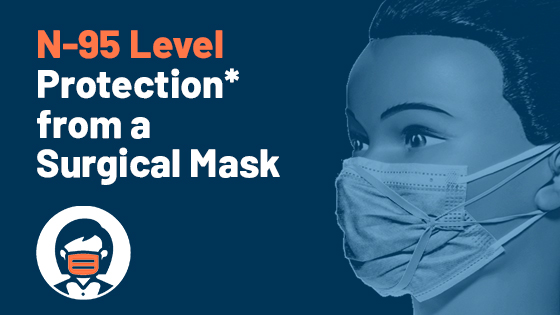 N-95 Level Protection* from a Surgical Mask